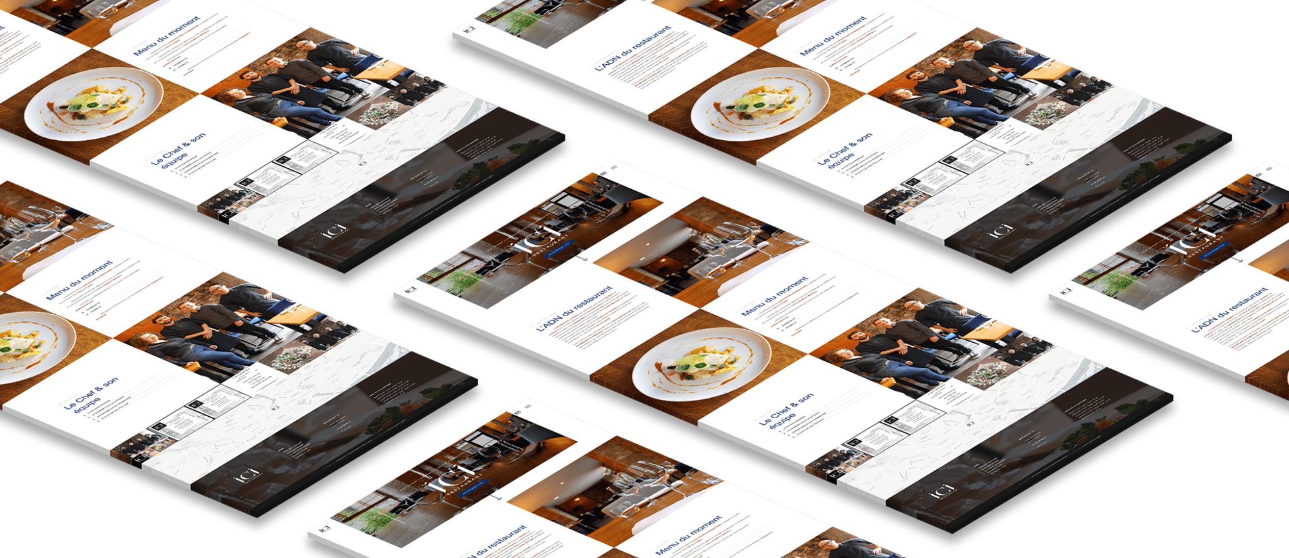 Restaurant ICI 1 - Arnaud Le Roux - Directeur Artistique Digital & Développeur Front-End