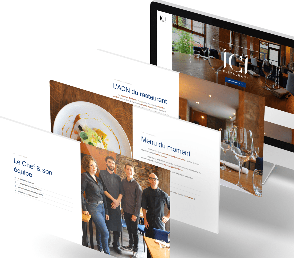 Restaurant ICI 3 - Arnaud Le Roux - Directeur Artistique Digital & Développeur Front-End